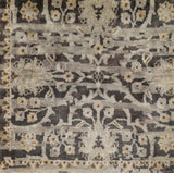 Surya Empress EMS-7010 Dark Brown Hand Knotted Area Rug Sample Swatch