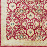 Surya Empress EMS-7012 Dark Red Hand Knotted Area Rug Sample Swatch