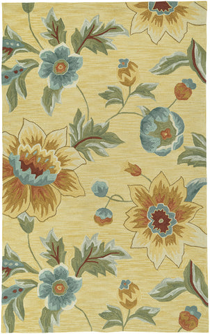 LR Resources Enchant 02010 Yellow Area Rug