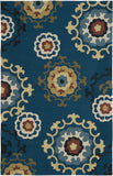 LR Resources Enchant 02012 Blue Hand Hooked Area Rug 5' X 7'9''