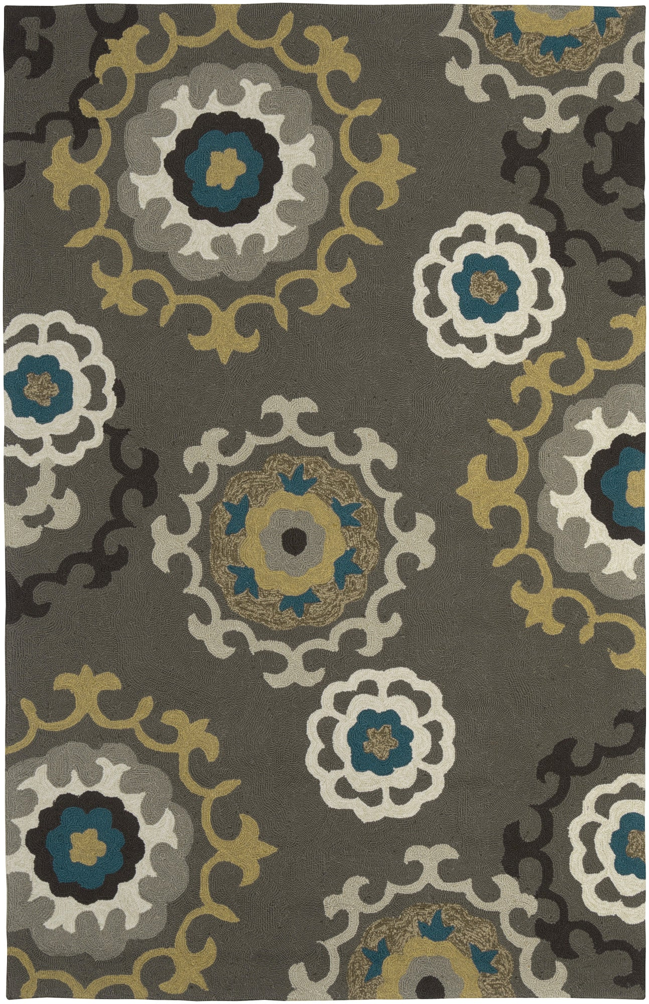 LR Resources Enchant 02012 Grey Area Rug