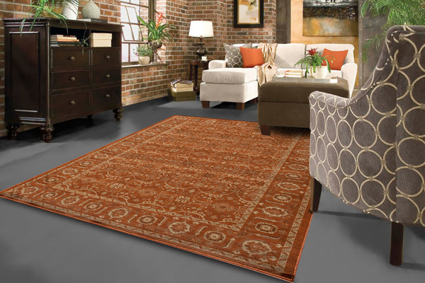 Momeni Encore EC-03 Paprika Area Rug – Incredible Rugs and Decor