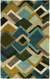 Surya Envelopes ENV-5001 Teal Area Rug by Mike Farrell 5' x 8'