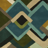 Surya Envelopes ENV-5001 Teal Hand Tufted Area Rug by Mike Farrell Sample Swatch