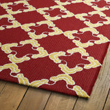 Kaleen Escape ESC01-25 Red Area Rug Close-up Shot