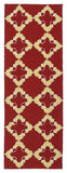 Kaleen Escape ESC01-25 Red Area Rug Runner Shot