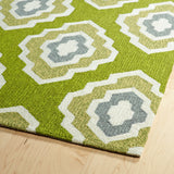 Kaleen Escape ESC02-50 Green Area Rug Close-up Shot