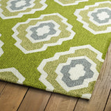 Kaleen Escape ESC02-50 Green Area Rug Close-up Shot Feature
