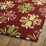 Kaleen Escape ESC07-25 Red Area Rug Close-up Shot Feature