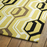 Kaleen Escape ESC08-05 Gold Area Rug Close-up Shot