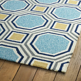 Kaleen Escape ESC11-17 Blue Area Rug Close-up Shot