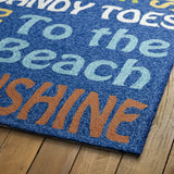 Kaleen Escape ESC12-17 Blue Area Rug Close-up Shot