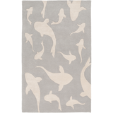 Surya Escape ESP-3124 Light Gray Area Rug by Somerset Bay 5' x 8'