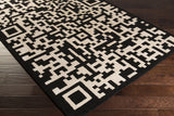 Surya Essence ESS-7688 Black Hand Tufted Area Rug 5x8 Corner