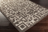 Surya Essence ESS-7691 Charcoal Hand Tufted Area Rug 5x8 Corner