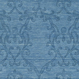 Surya Etching ETC-4977 Bright Blue Area Rug Sample Swatch