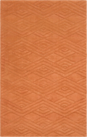 Surya Etching ETC-5002 Burnt Orange Area Rug main image