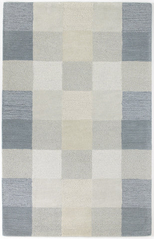 KAS Eternity 1081 Seaside Checkerboard Hand Tufted Area Rug