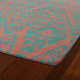 Kaleen Evolution EVL02-36 Watermelon Area Rug Close-up Shot