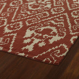 Kaleen Evolution EVL02-57 Salsa Area Rug Close-up Shot Feature