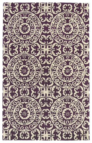 Kaleen Evolution EVL03-95 Purple Area Rug