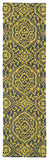 Kaleen Evolution EVL04-28 Yellow Hand Tufted Area Rug
