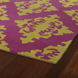 Kaleen Evolution EVL05-92 Pinks Area Rug Close-up Shot Feature