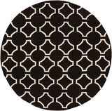 Surya Fallon FAL-1024 Charcoal Area Rug by Jill Rosenwald 8' Round