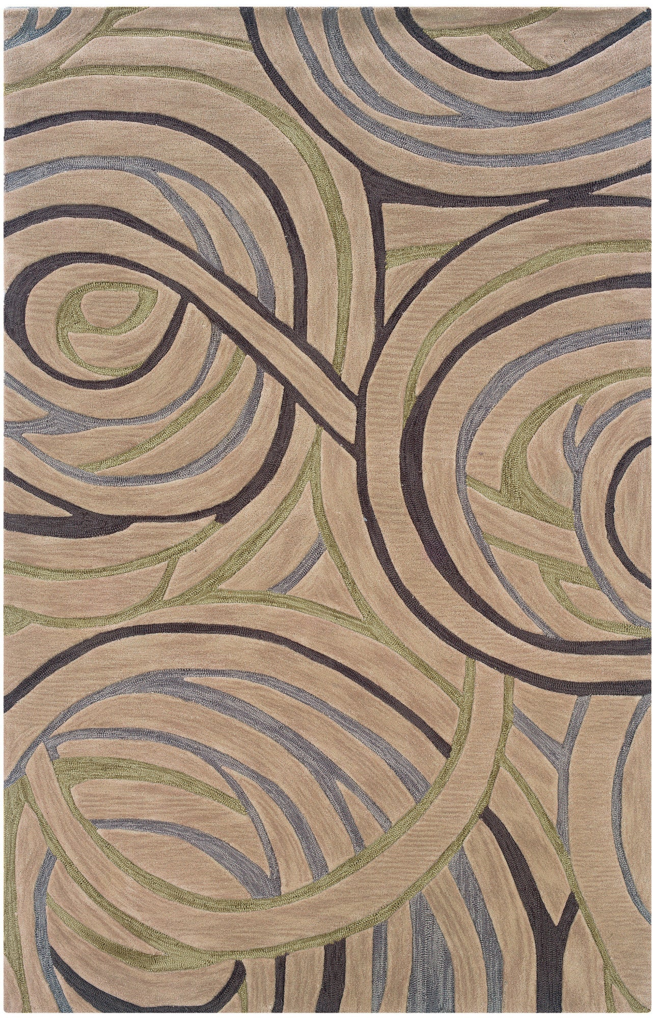 LR Resources Fashion 02503 Ivory Area Rug
