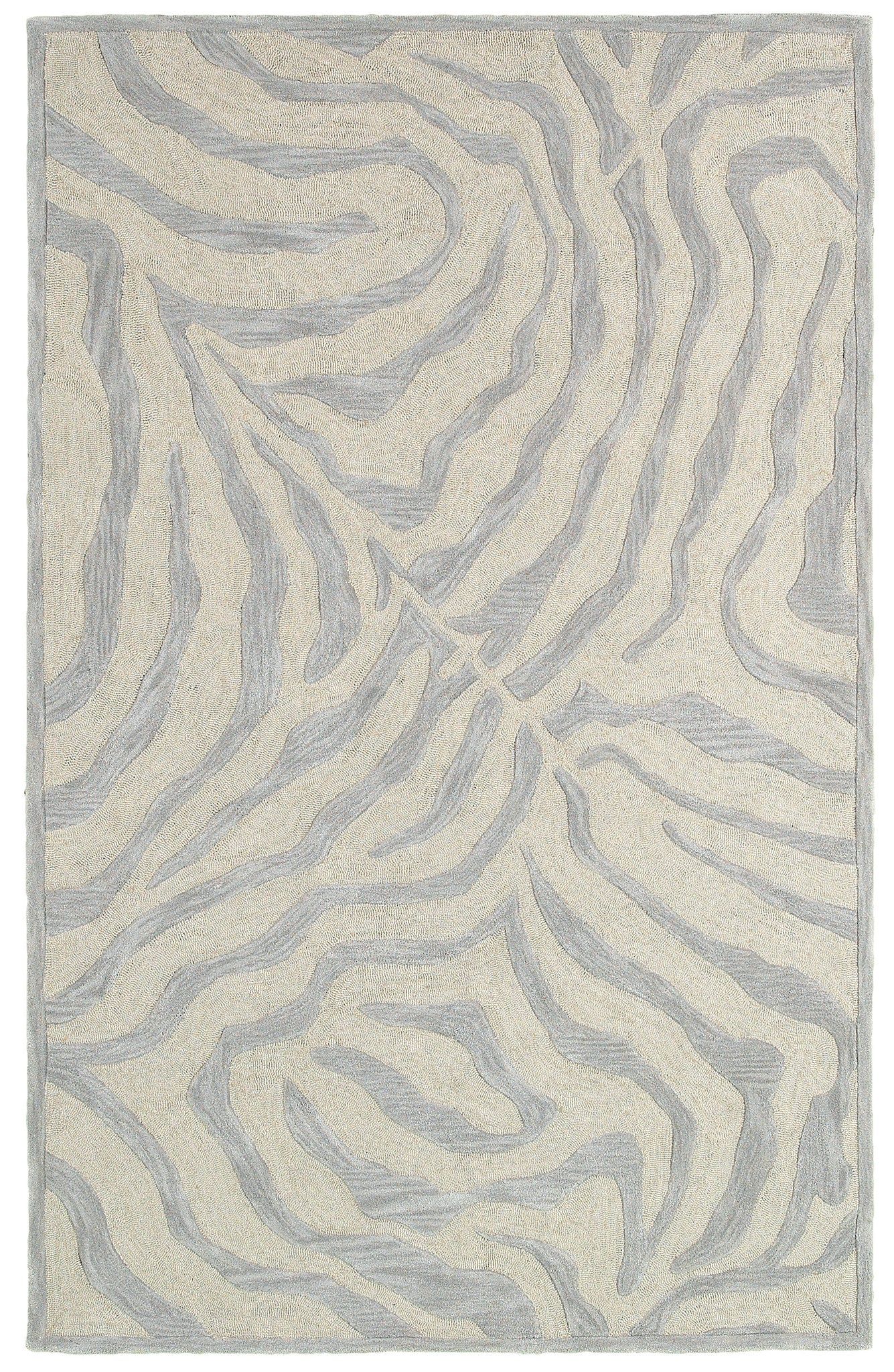 LR Resources Fashion 02510 Taupe/Silver Area Rug