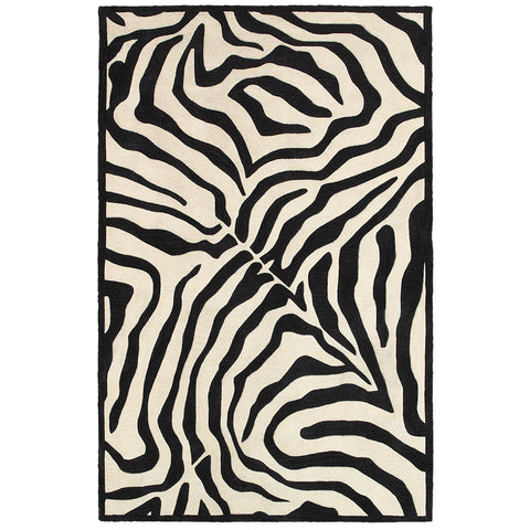 LR Resources Fashion 02512 Black/Cream Area Rug