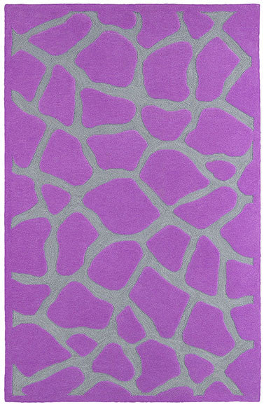 LR Resources Fashion 02514 Purple Area Rug