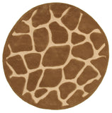 LR Resources Fashion 02515 Natural Hand Tufted Area Rug 5' X 5' Round