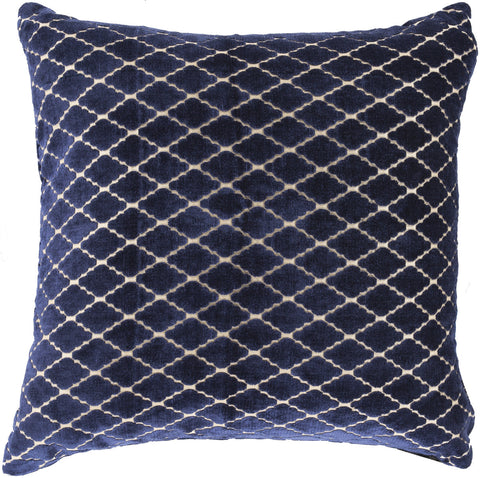 Surya Velvet Antique Lattice FBA-002 Pillow by Florence Broadhurst