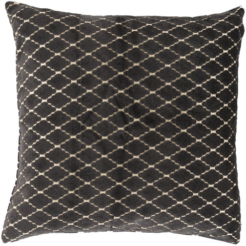 Surya Velvet Antique Lattice FBA-004 Pillow by Florence Broadhurst