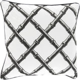 Surya Bamboo Lattice Bold FBB-003 Pillow by Florence Broadhurst
