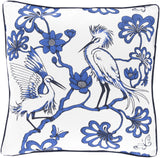 Surya Egrets Elegant Egret FBE-002 Pillow by Florence Broadhurst 20 X 20 X 5 Down filled
