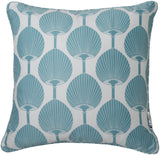 Surya Decorative S Elegant Ogee FBK-002 Pillow by Florence Broadhurst 18 X 18 X 4 Poly filled