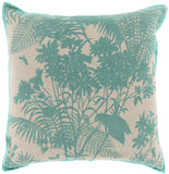 Surya Shadow Floral Isle of Palms FBS-001 Pillow by Florence Broadhurst 20 X 20 X 5 Down filled