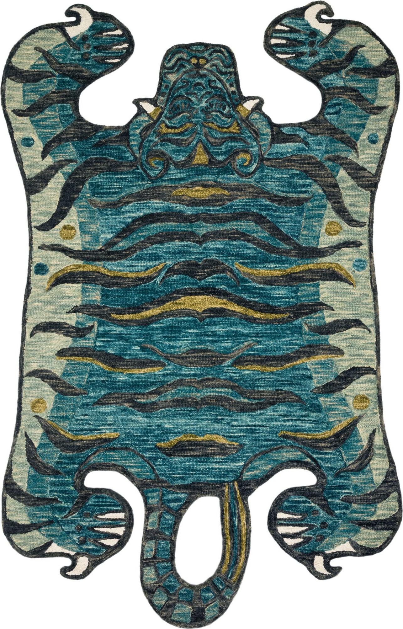Loloi Feroz FER-03 Teal Area Rug by Justina Blakeney main image