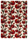 MAT Milano Fiore White Red Area Rug main image