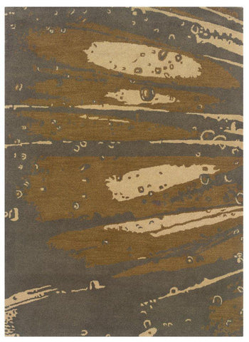 Linon Florence Collection RUG-FL02 Slate/Olive Area Rug main image