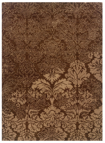 Linon Florence Collection RUG-FL04 Brown/Beige Area Rug main image