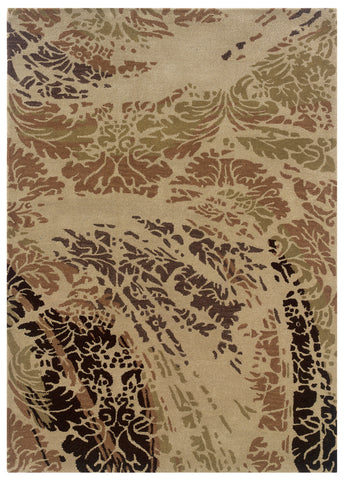 Linon Florence Collection RUG-FL06 Beige/Brown Area Rug main image