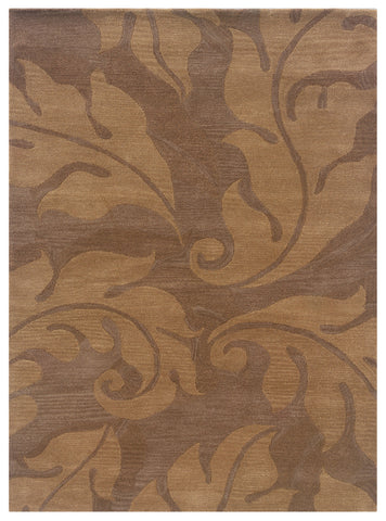 Linon Florence Collection RUG-FL07 Beige/Gold Area Rug main image