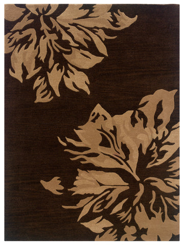 Linon Florence Collection RUG-FL10 Chocolate/Sand Area Rug main image