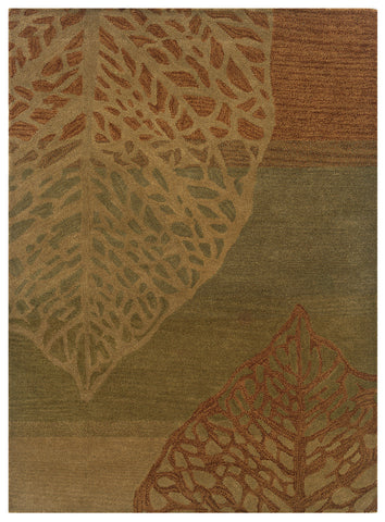 Linon Florence Collection RUG-FL13 Olive/Beige Area Rug main image