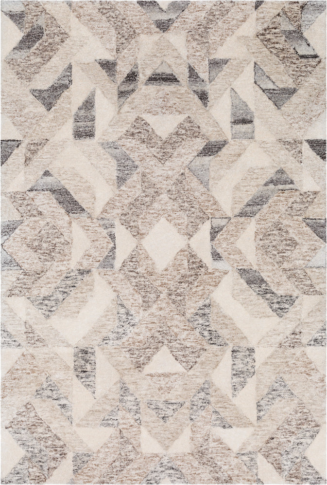 Surya Falcon FLC-8002 Camel Dark Brown Beige Taupe Black Butter Area Rug Mirror main image
