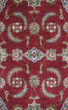KAS Florence 4587 Ruby Allover Mahal Hand Tufted Area Rug