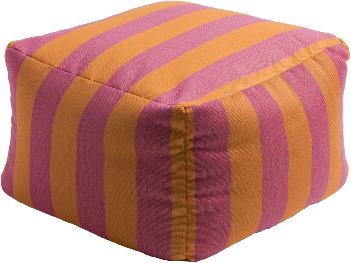 Surya Finn FNPF-002 Pink Orange Pouf
